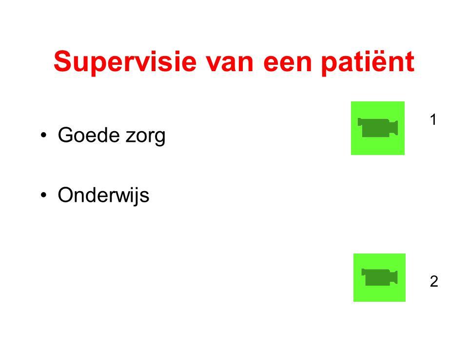 Supervisie van een patiënt Goede zorg Onderwijs 1 2