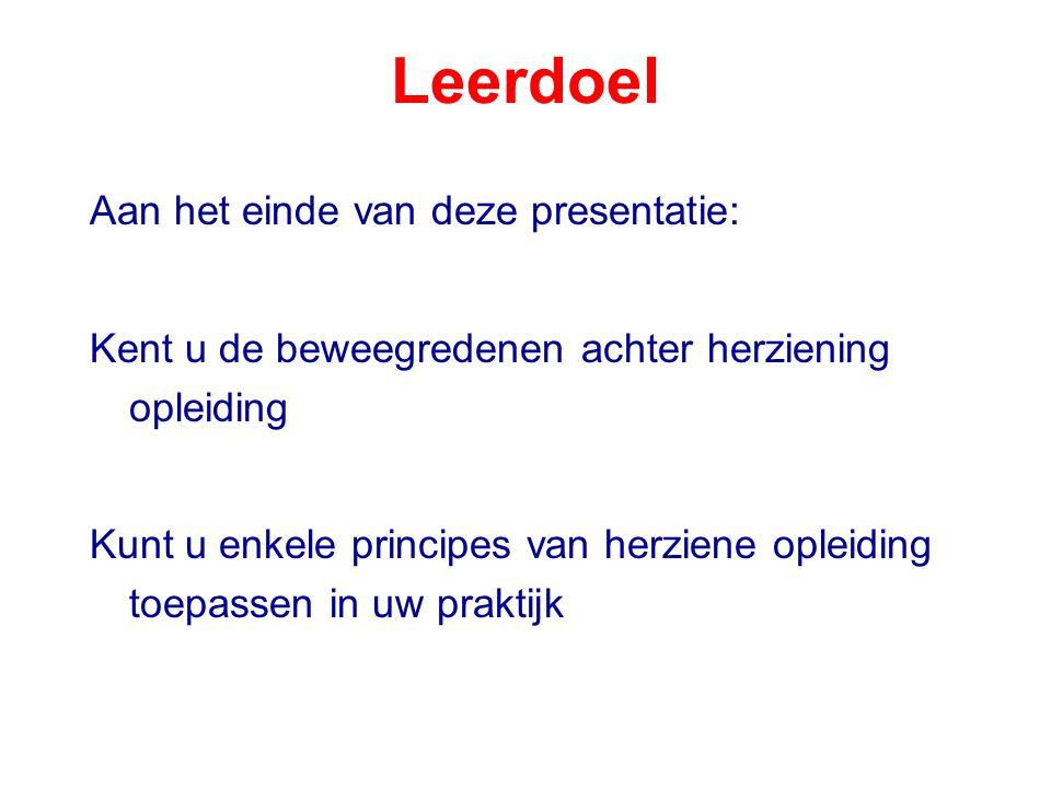 Overzicht presentatie Hoe leren volwassenen.