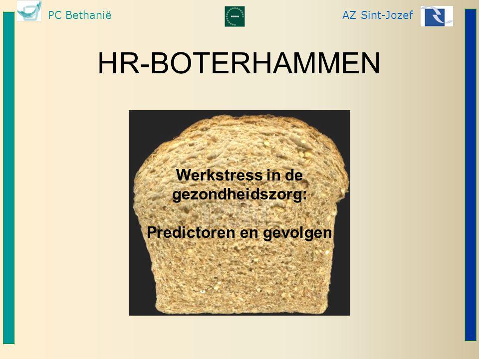 PC BethaniëAZ Sint-Jozef HR-BOTERHAMMEN Werkstress in de gezondheidszorg: Predictoren en gevolgen