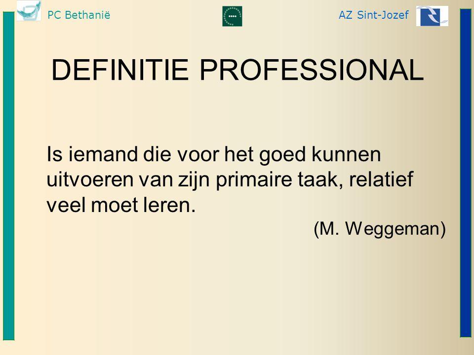PC BethaniëAZ Sint-Jozef NOOD AAN LEIDINGGEVENDE.