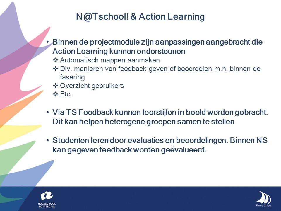 Binnen de projectmodule zijn aanpassingen aangebracht die Action Learning kunnen ondersteunen  Automatisch mappen aanmaken  Div.