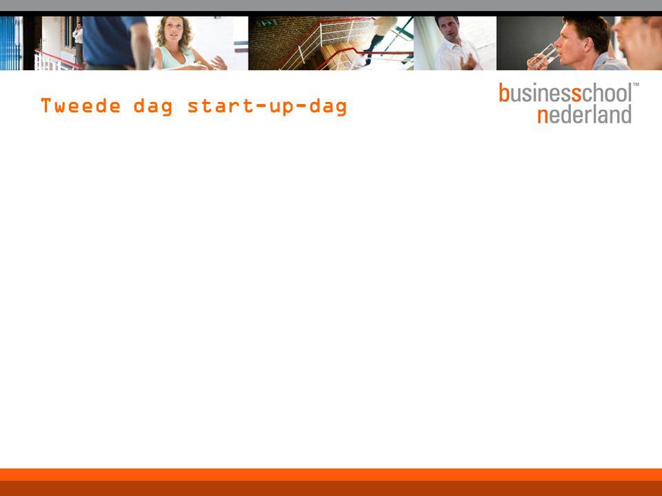 Tweede dag start-up-dag