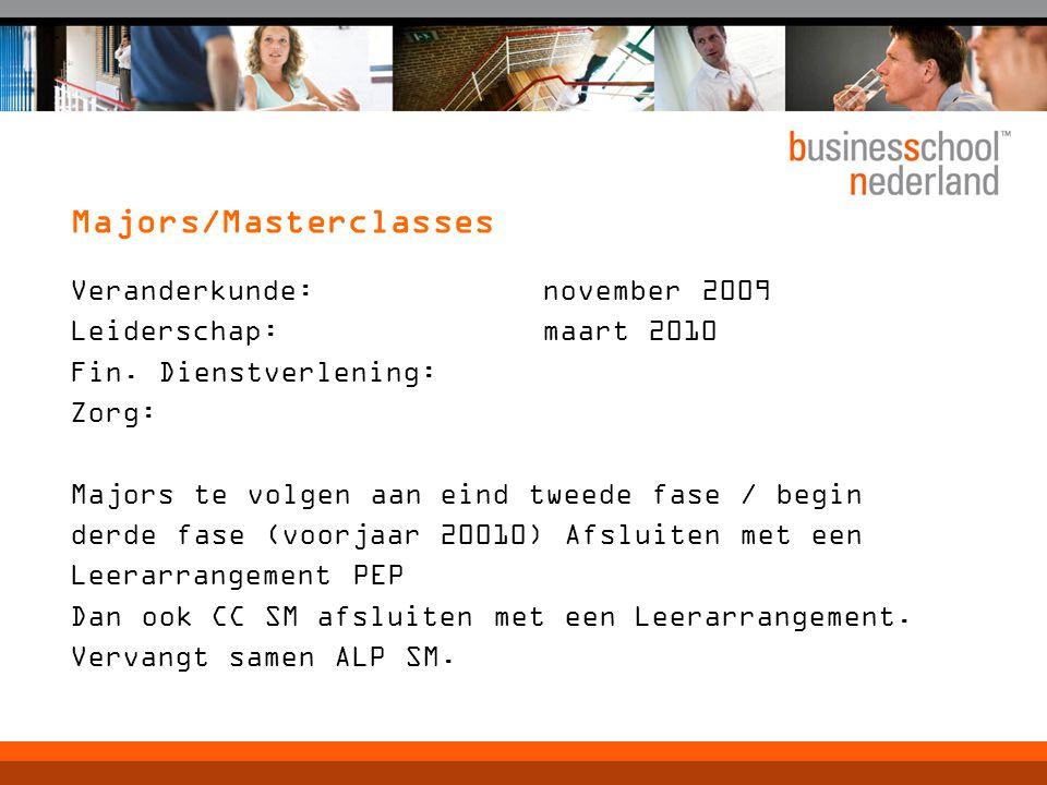 Veranderkunde: november 2009 Leiderschap: maart 2010 Fin.