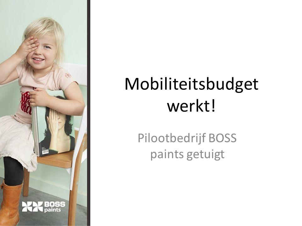 Mobiliteitsbudget werkt! Pilootbedrijf BOSS paints getuigt