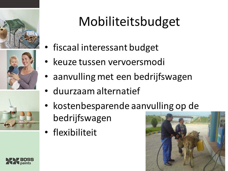 Mobiliteitsbudget fiscaal interessant budget keuze tussen vervoersmodi aanvulling met een bedrijfswagen duurzaam alternatief kostenbesparende aanvulling op de bedrijfswagen flexibiliteit
