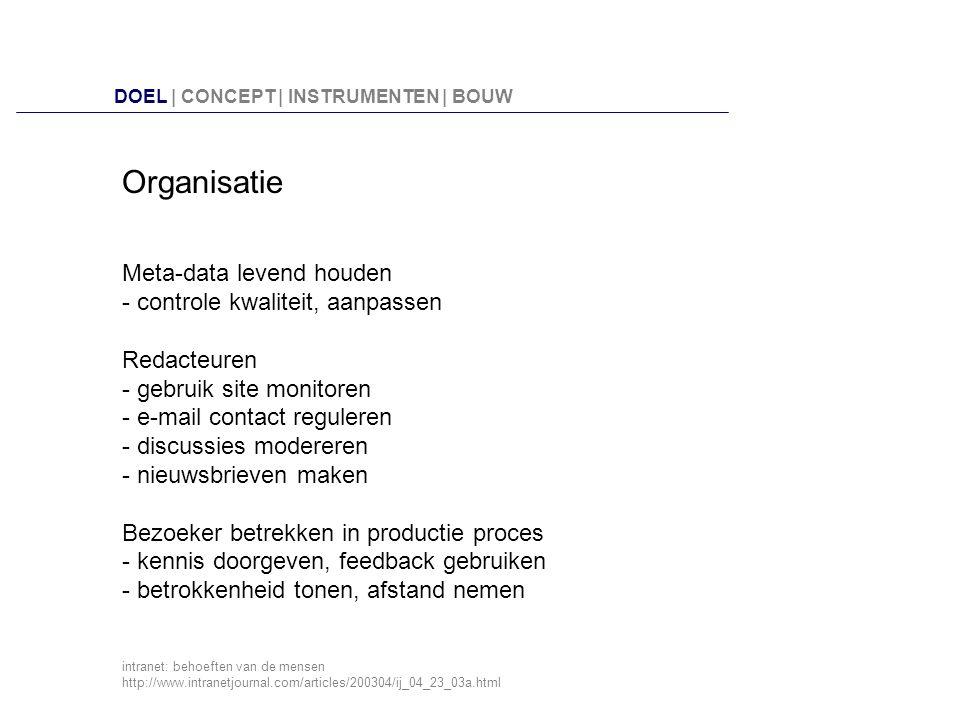 3 2 1 4 Metadata A.Titel, tekst/link, schrijver, datum B.