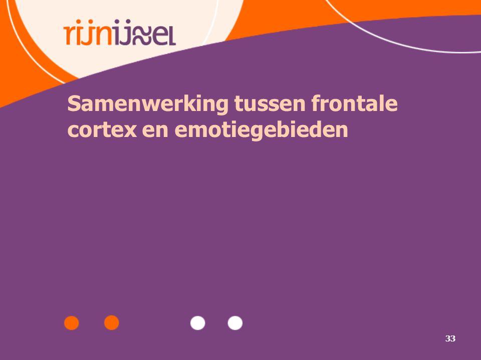 33 Samenwerking tussen frontale cortex en emotiegebieden