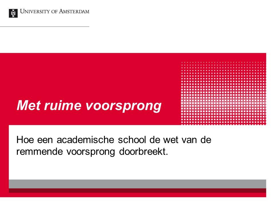 Met ruime voorsprong Hoe een academische school de wet van de remmende voorsprong doorbreekt.