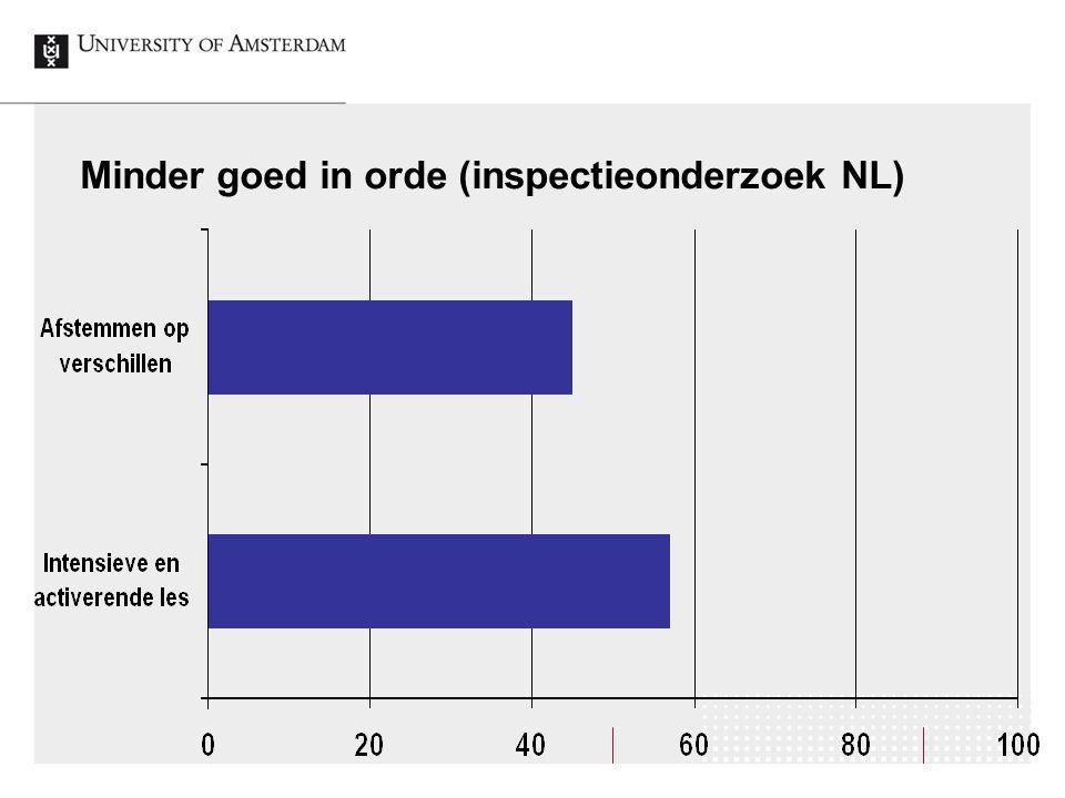 Minder goed in orde (inspectieonderzoek NL)