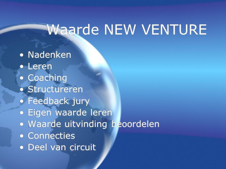 Kritiek op NEW VENTURE  Nazorg, b.v.t.a.v. Capital investors  Nazorg voor niet prijswinnaars.