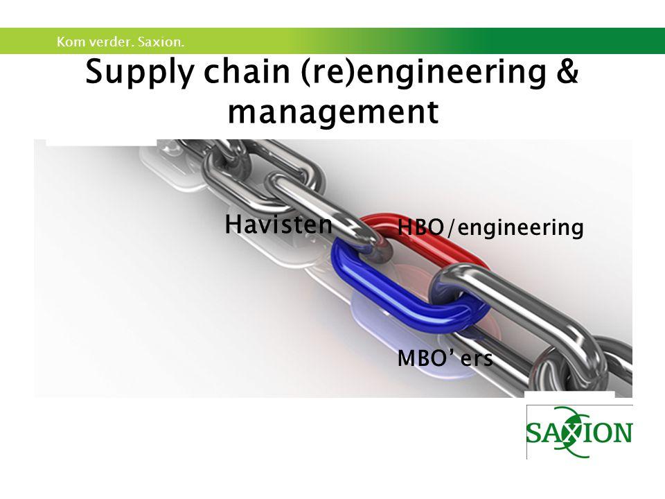 Kom verder. Saxion. Supply chain (re)engineering & management HBO/engineering Havisten MBO' ers