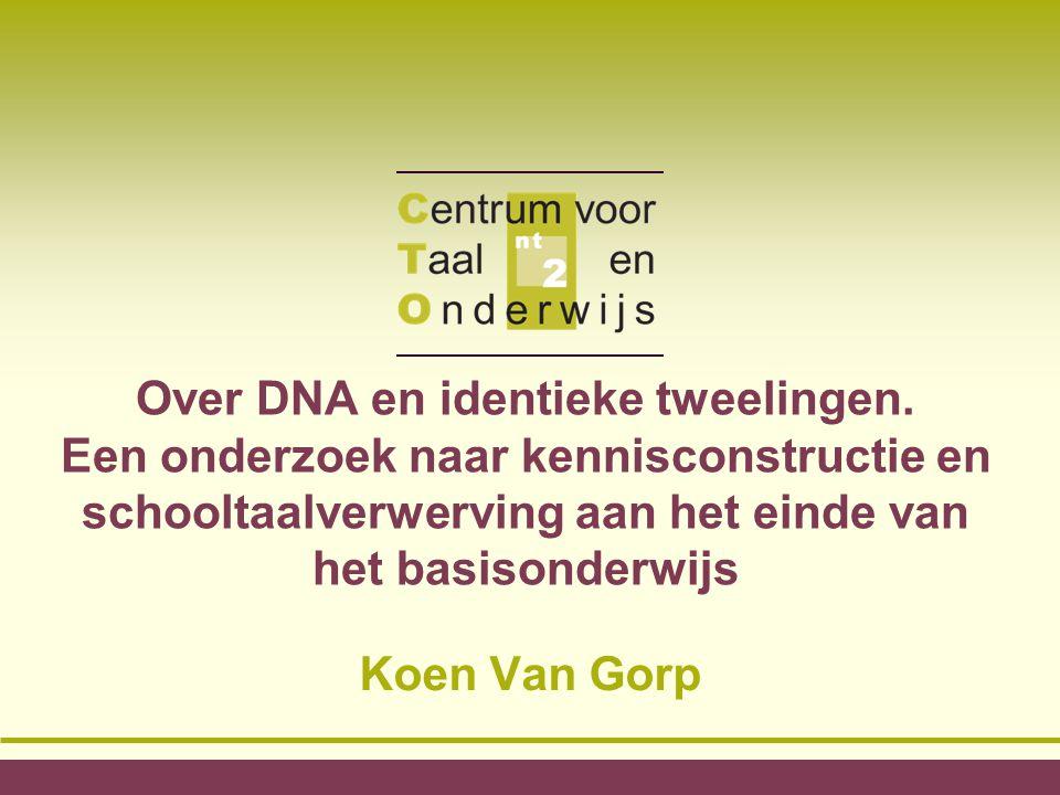 DNA, genen, identieke tweelingen...
