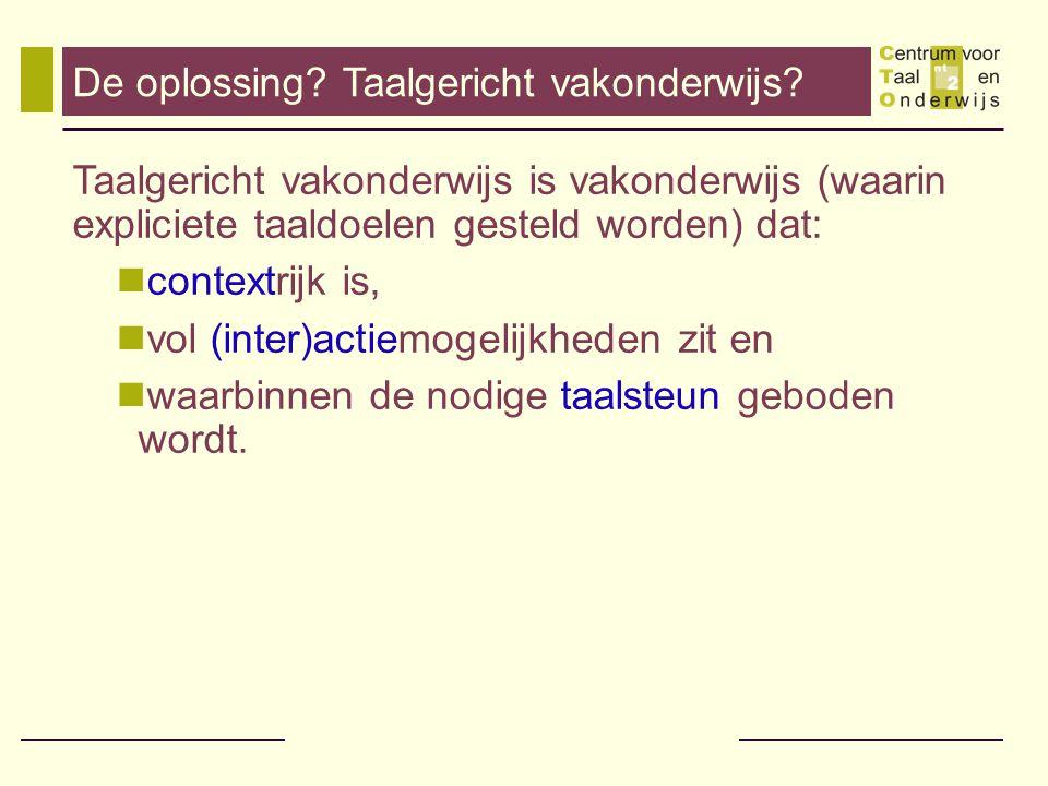 Effecten van taalgericht vakonderwijs.