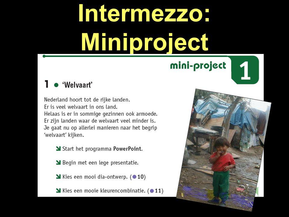 Intermezzo: Miniproject