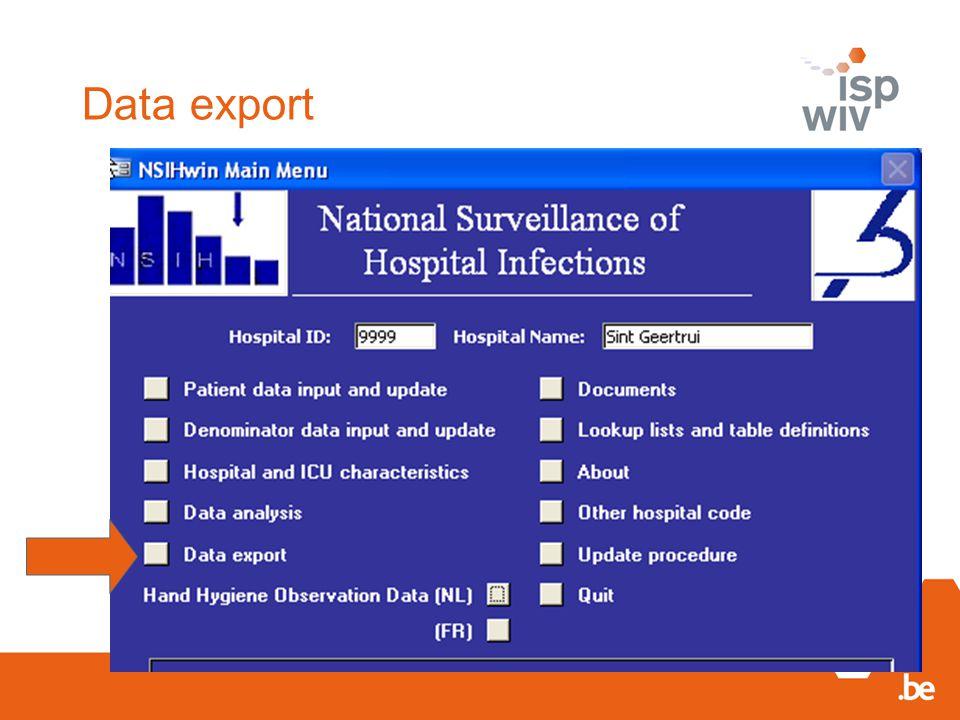 Data export