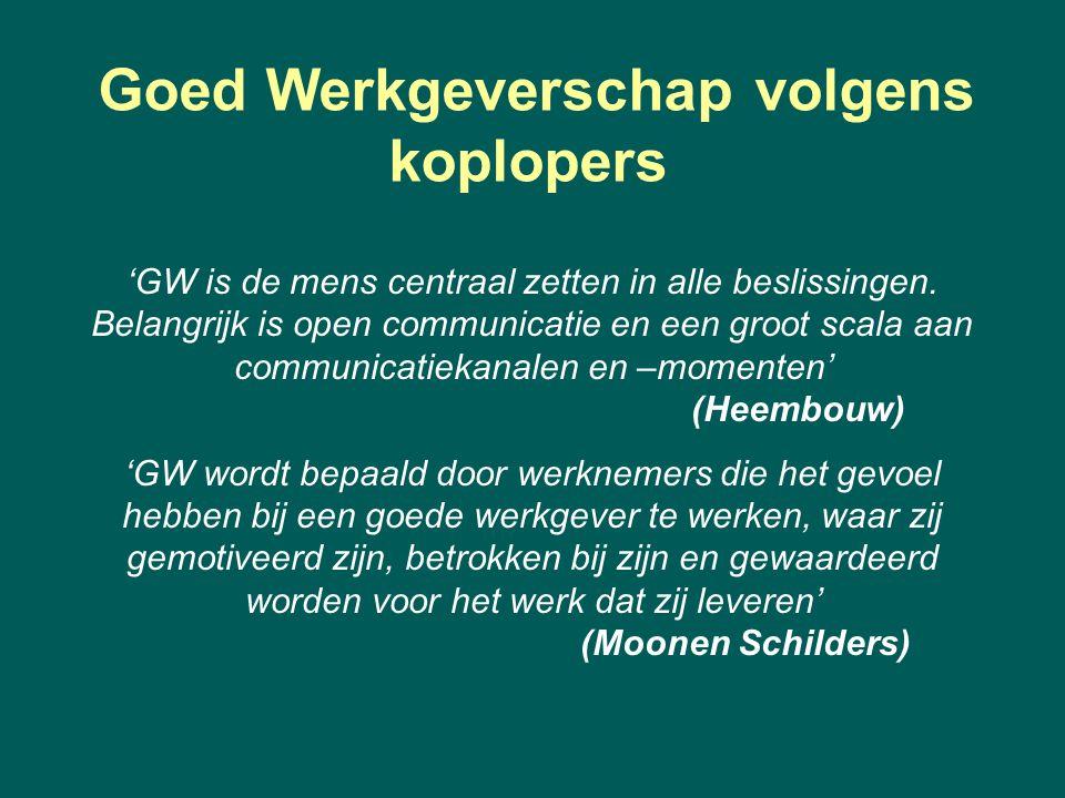 'GW is de mens centraal zetten in alle beslissingen. Belangrijk is open communicatie en een groot scala aan communicatiekanalen en –momenten' (Heembou