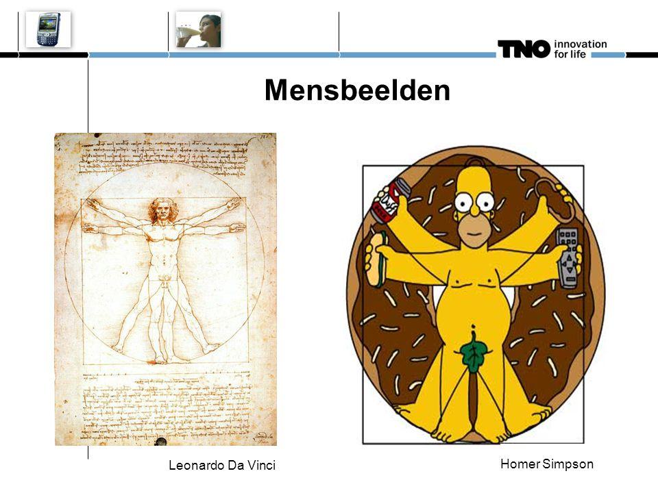 Mensbeelden Leonardo Da Vinci Homer Simpson