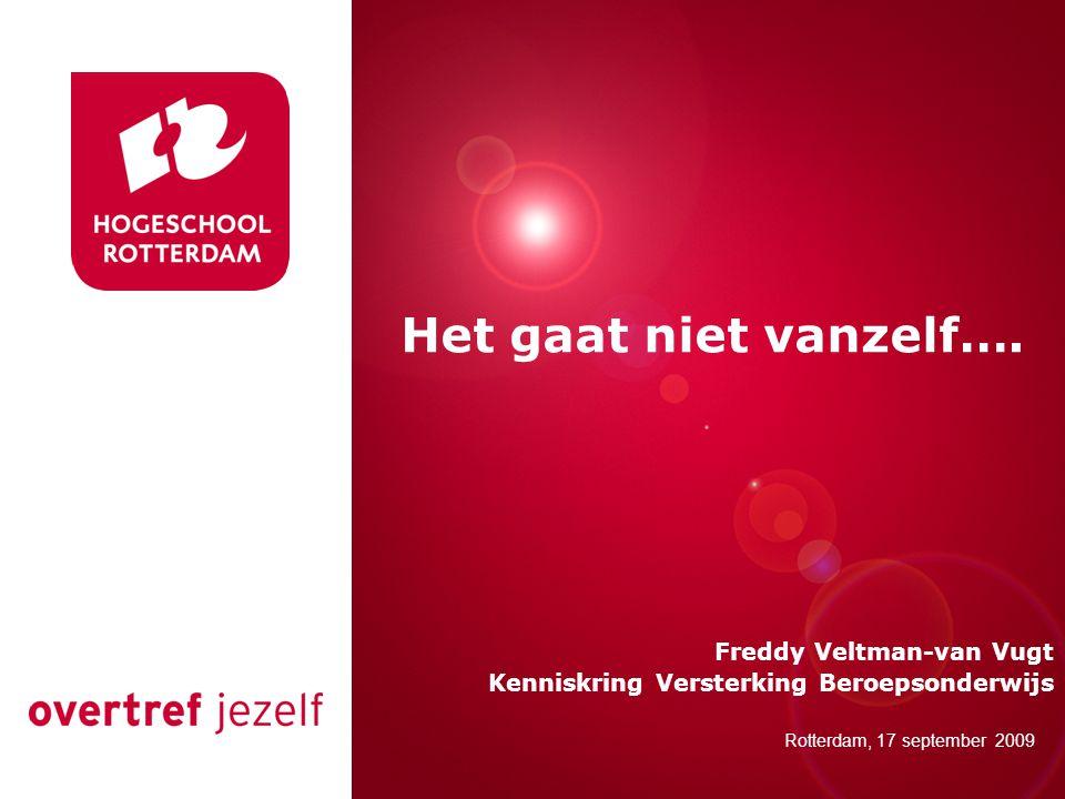 Presentatie titel Rotterdam, 00 januari 2007 Rotterdam, 17 september 2009 Het gaat niet vanzelf….