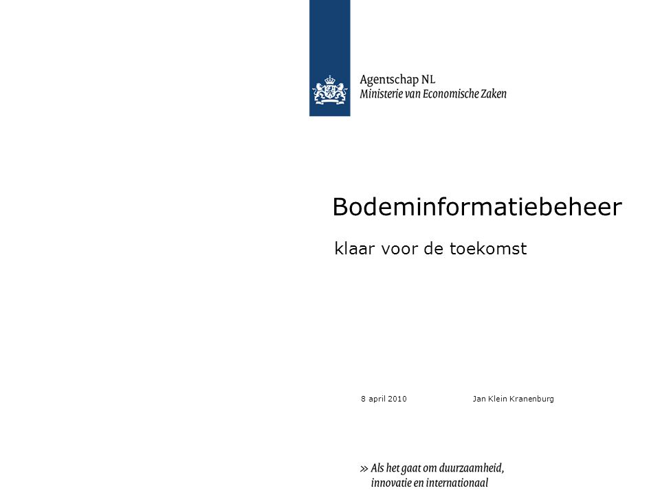 Inhoud 1.Introductie Bodem+ 2.Bodeminformatiebeheer: wat doen we.