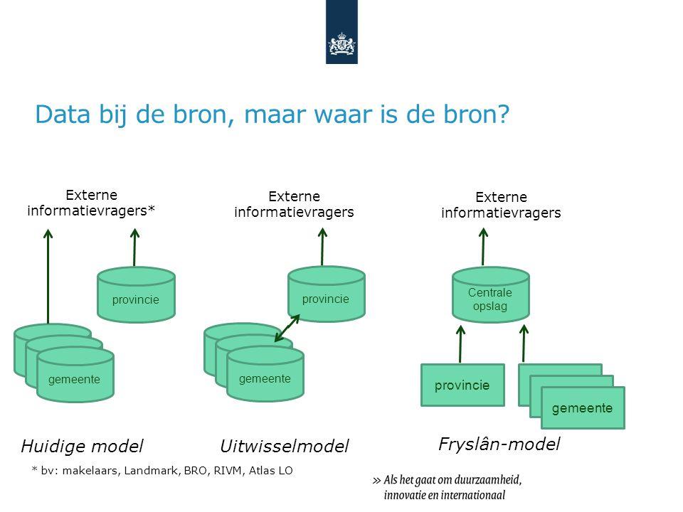 Advies voor provincie, gemeenten, milieudiensten - Vorming éénlocatielijst; - Uitwisselservice implementeren (of kiezen voor Fryslân-model) - Nadenken over locaties die nog niet in BIS zitten (bv.