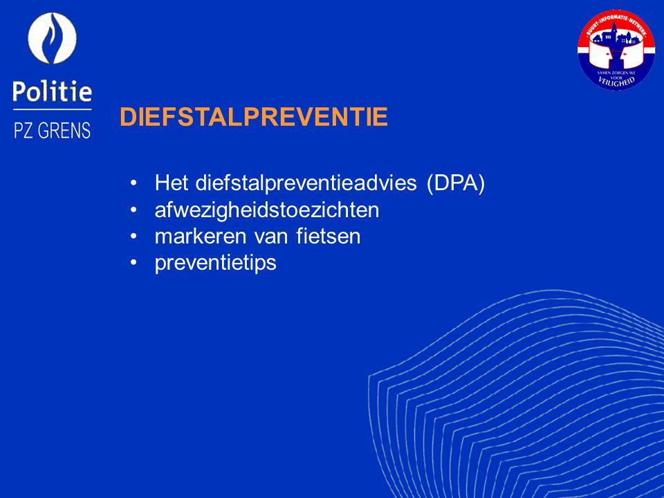 DIEFSTALPREVENTIE Het diefstalpreventieadvies (DPA) afwezigheidstoezichten markeren van fietsen preventietips