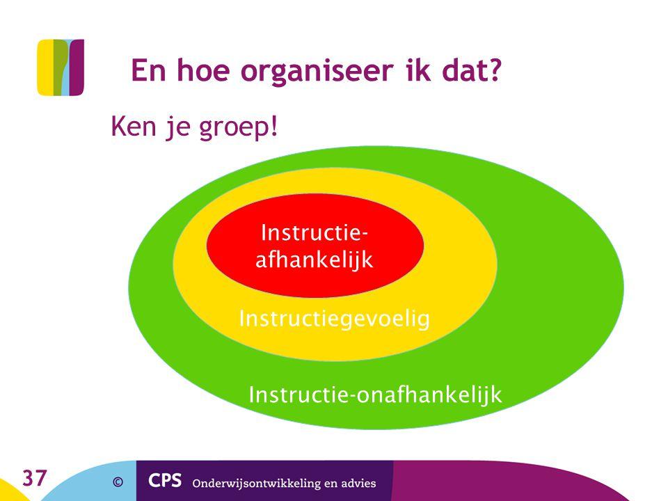 37 Ken je groep.Instructie-onafhankelijk Instructiegevoelig En hoe organiseer ik dat.