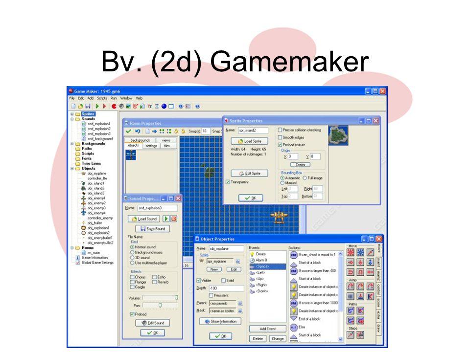 Gamesmaken.startpagina.nl www.wouterbaars.net Bv. (2d) Gamemaker