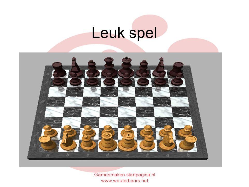Gamesmaken.startpagina.nl www.wouterbaars.net Leuk spel