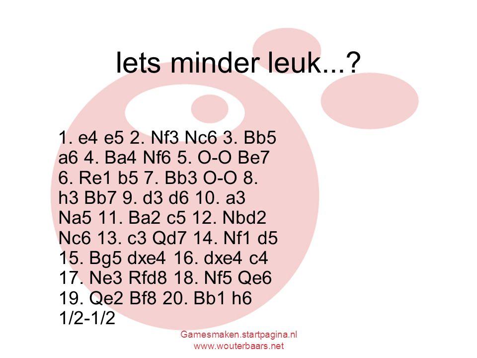 Gamesmaken.startpagina.nl www.wouterbaars.net Iets minder leuk....