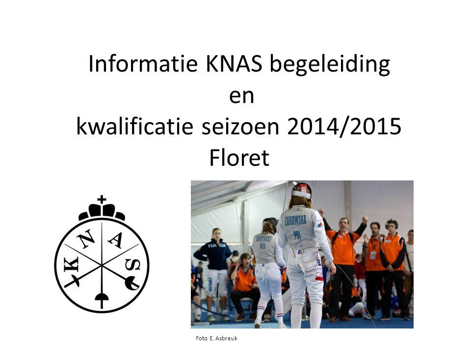 Informatie KNAS begeleiding en kwalificatie seizoen 2014/2015 Floret Foto E. Asbreuk