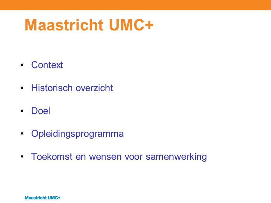 Context Organisatie Maastricht UMC+ Organieke plaats Instrumentele Dienst en TraCe Relatie met andere afdelingen Aansturing afdeling