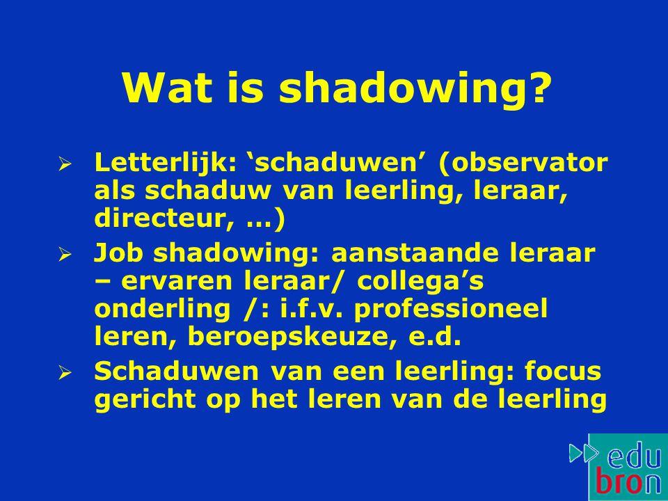 Wat is shadowing.
