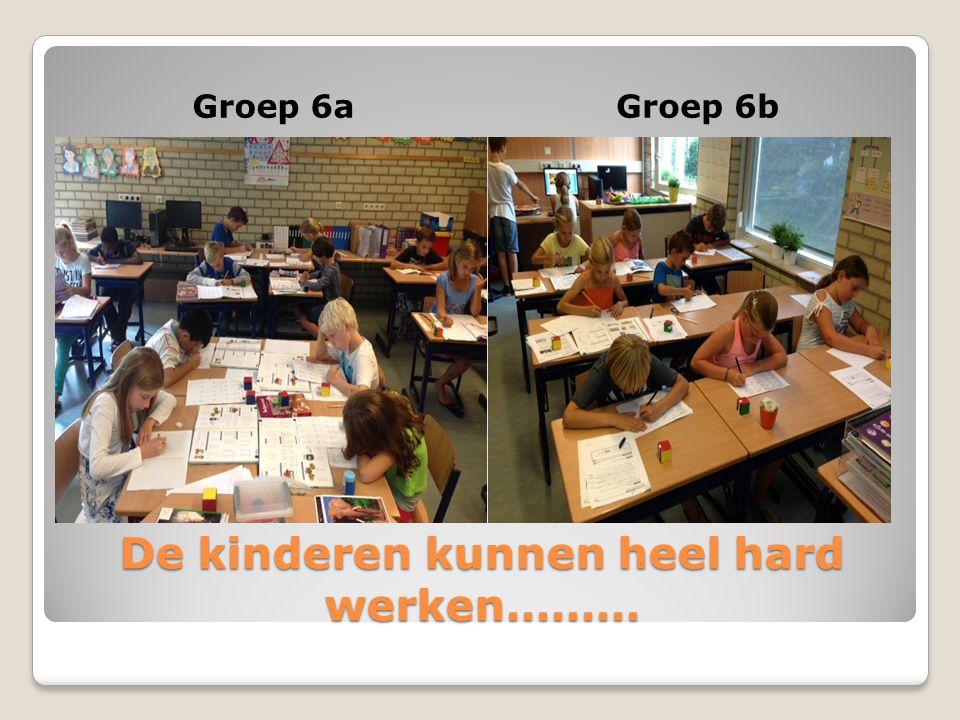De kinderen kunnen heel hard werken……… Groep 6aGroep 6b