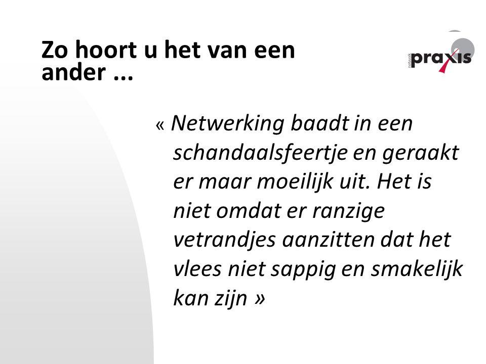 Wat is netwerken eigenlijk.