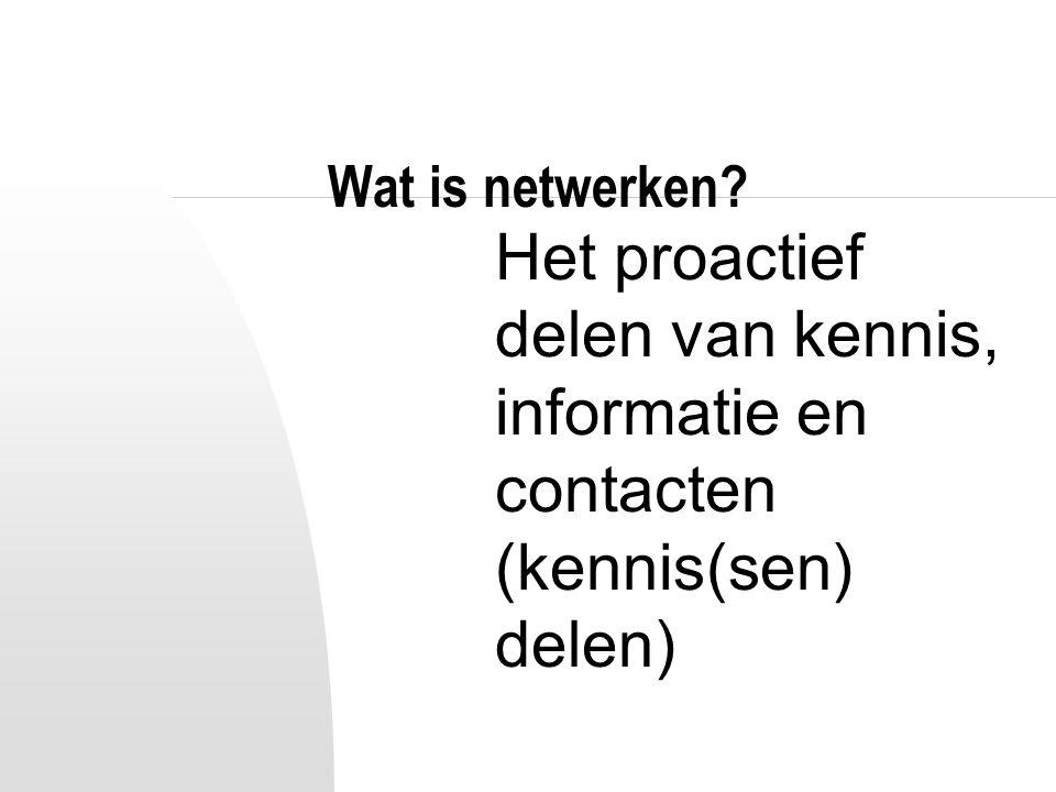 Wat is netwerken? Durven investeren (tijd en aandacht)