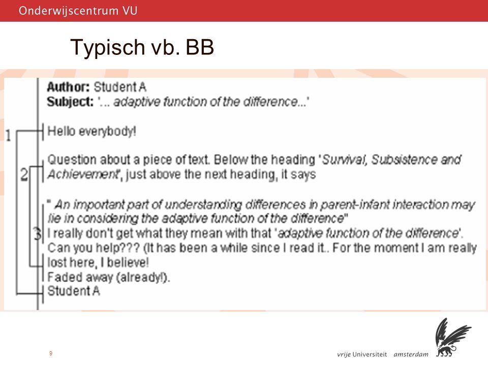 9 Typisch vb. BB