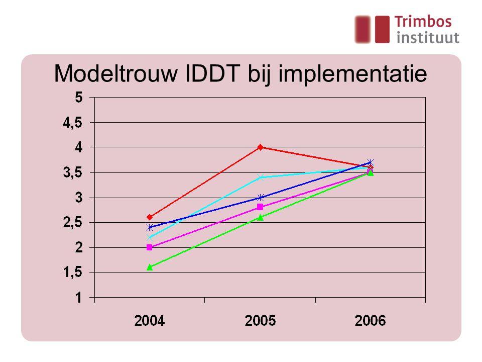 Modeltrouw IDDT bij implementatie