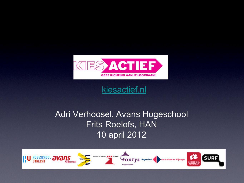 kiesactief.nl Adri Verhoosel, Avans Hogeschool Frits Roelofs, HAN 10 april 2012