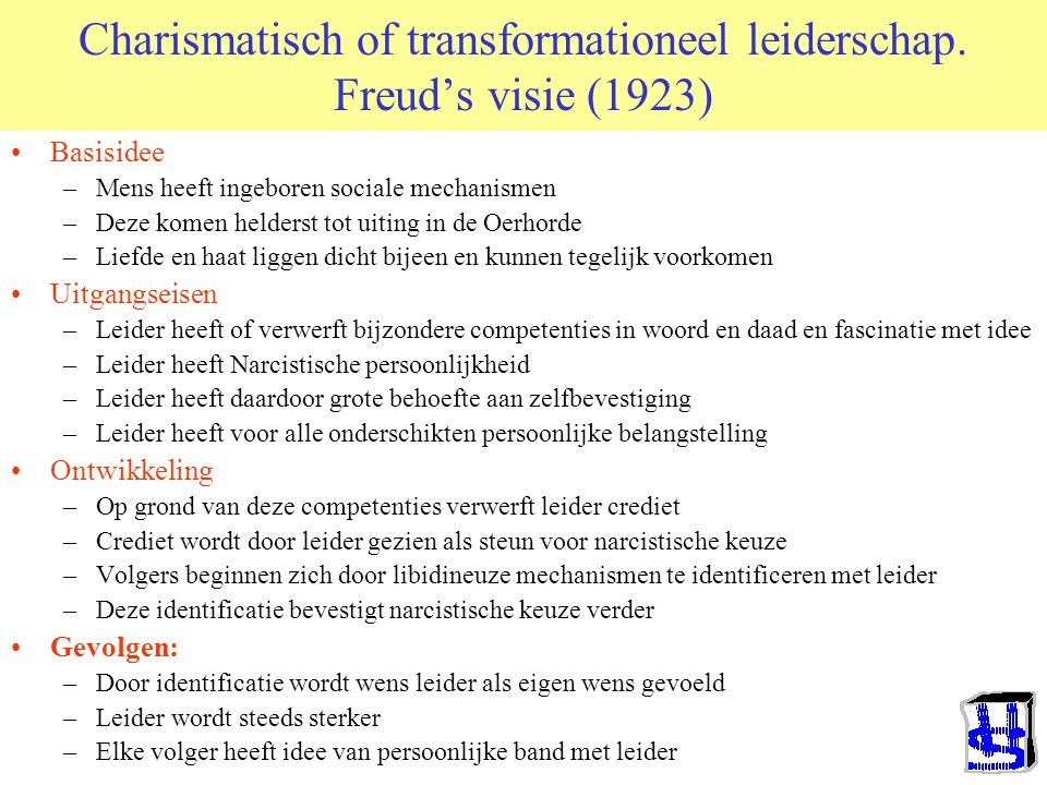 Charismatisch of transformationeel leiderschap.