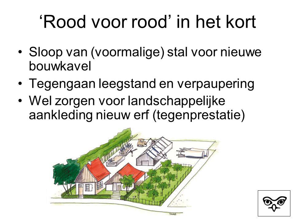 Steenuil bij ruimtelijke ontwikkelingen Naast Flora- faunawet Steenuil ook op Rode Lijst, als zijnde kwetsbaar.