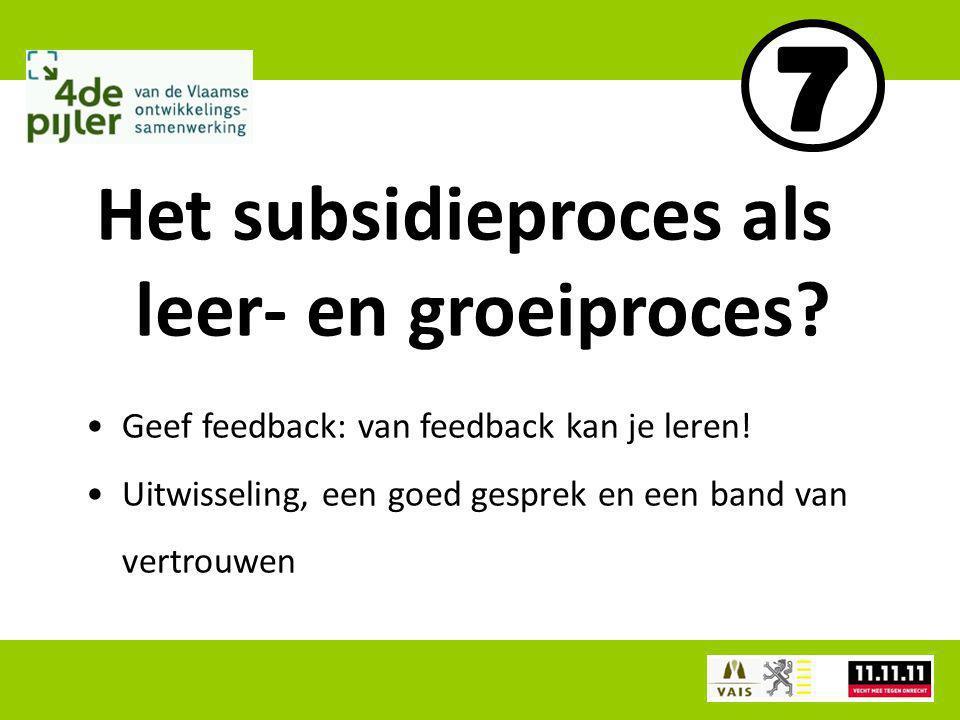 Geef feedback: van feedback kan je leren.