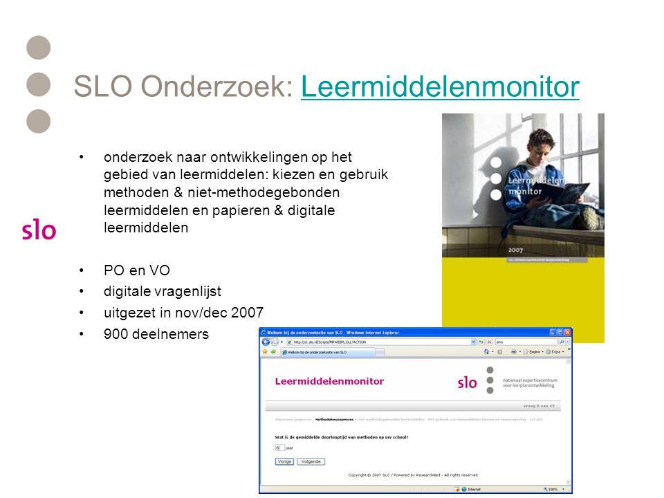 SLO Onderzoek: LeermiddelenmonitorLeermiddelenmonitor onderzoek naar ontwikkelingen op het gebied van leermiddelen: kiezen en gebruik methoden & niet-