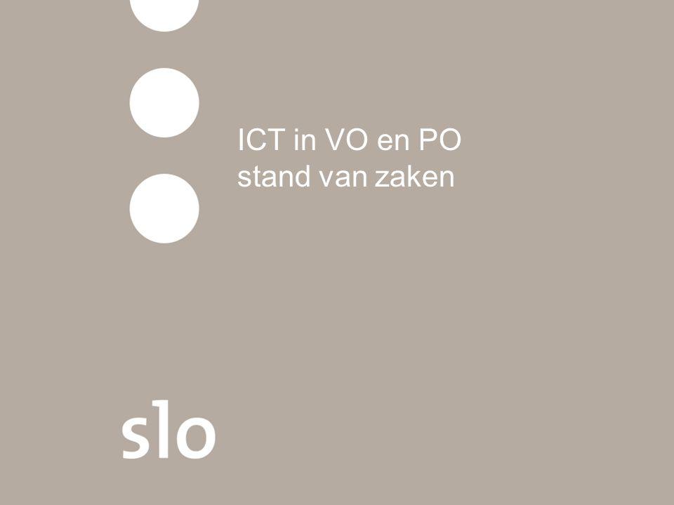 ICT in VO en PO stand van zaken