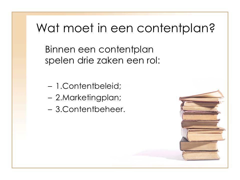 Contentbeleid Stap 1: Analyse aandachtsgebieden en trends.