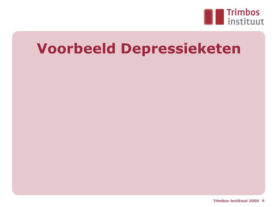 Trimbos-instituut 2008 9 Voorbeeld Depressieketen