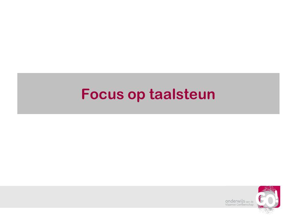 Focus op taalsteun
