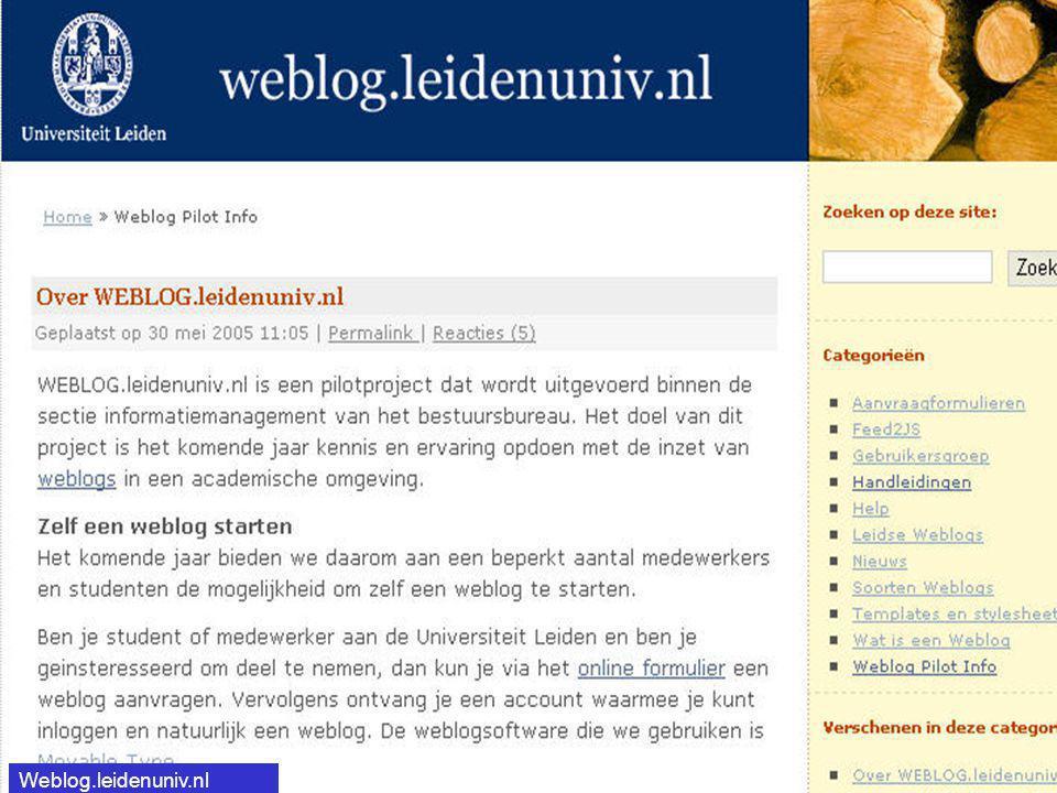Weblog.leidenuniv.nl