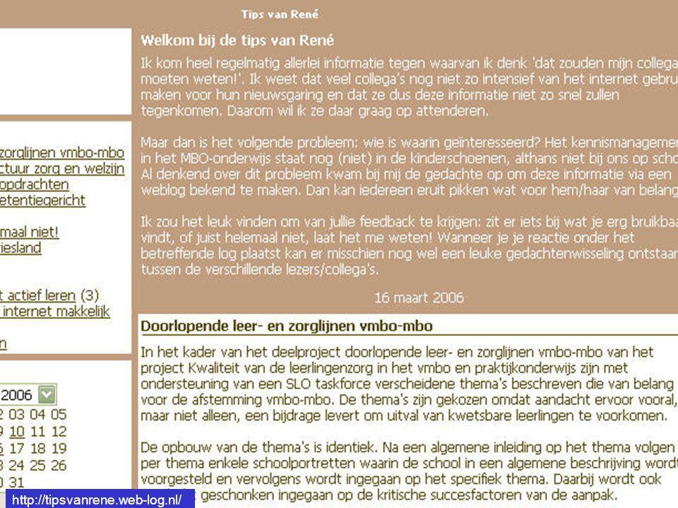 http://tipsvanrene.web-log.nl/
