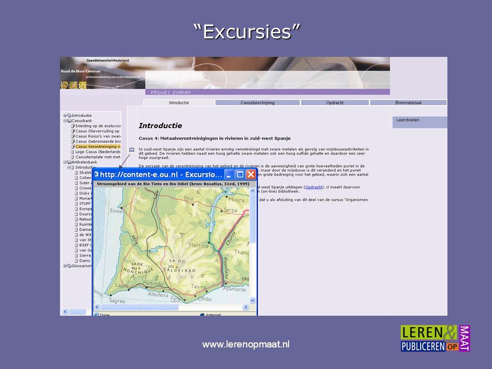 """www.lerenopmaat.nl""""Excursies"""""""