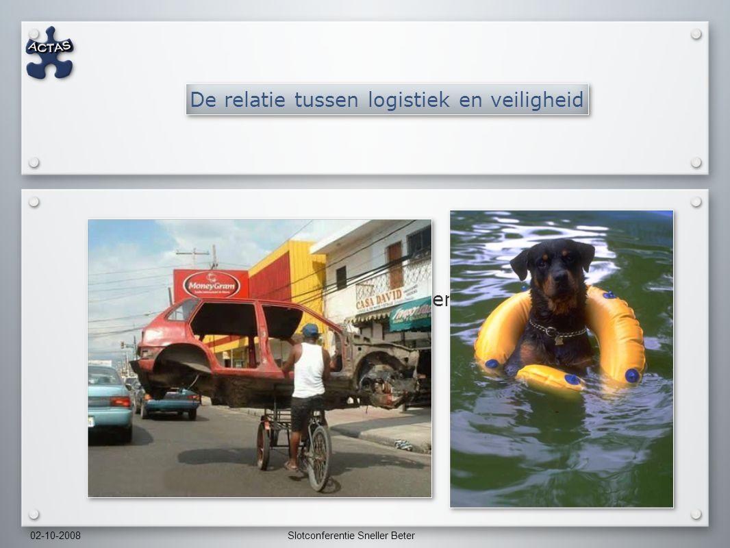 02-10-2008Slotconferentie Sneller Beter De relatie tussen logistiek en veiligheid Ervaringen uit de luchtverkeersleiding